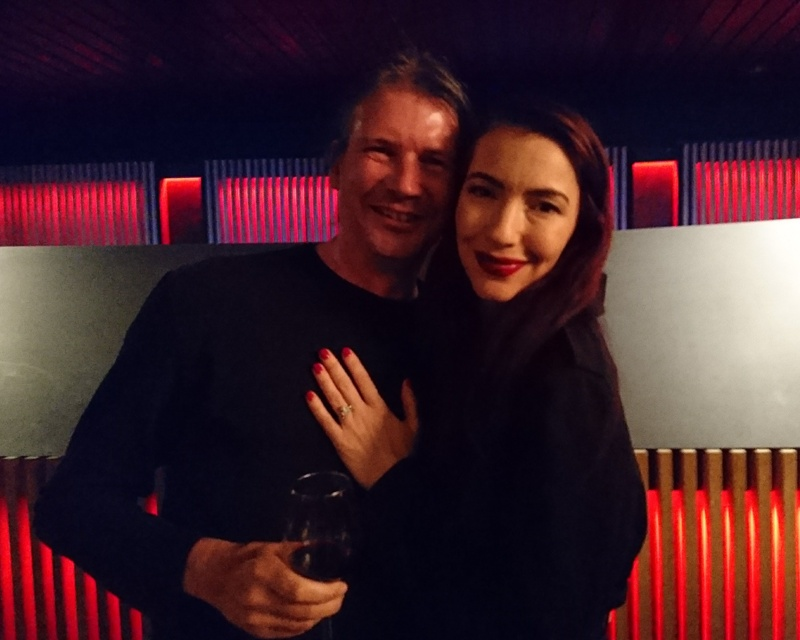 A very happy Uffe. After the concert we met Chrysta Bell.