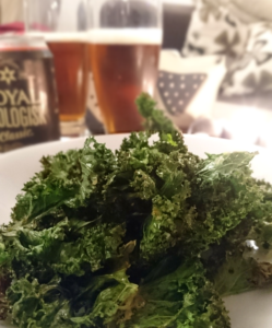 Kale chips and beer