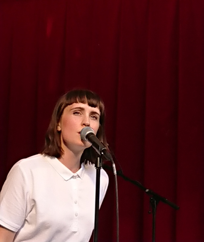 Selina Gin on vocal. Nelson Can, 'Lille fredag' - 31 May, 2018, Orangeriet, Tivoli.