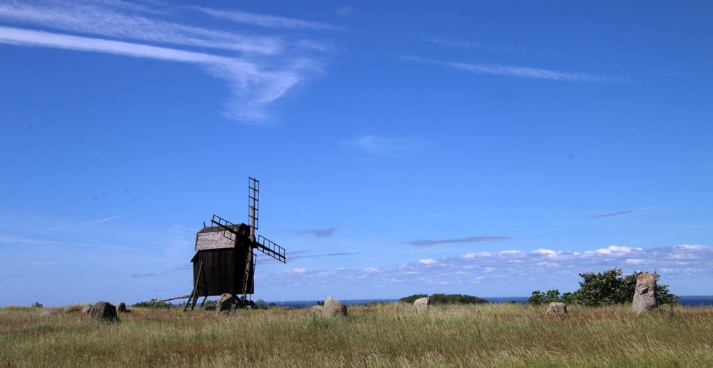 one of the many old windmills you will see at Öland