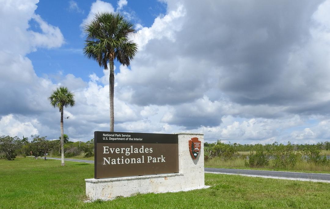 Indgangen til Everglades National Park