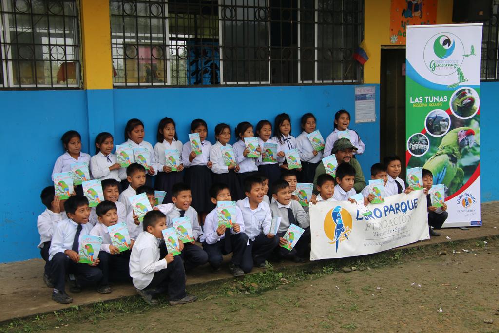 Glade skoleelever, der har hørt Guacamoyoen.