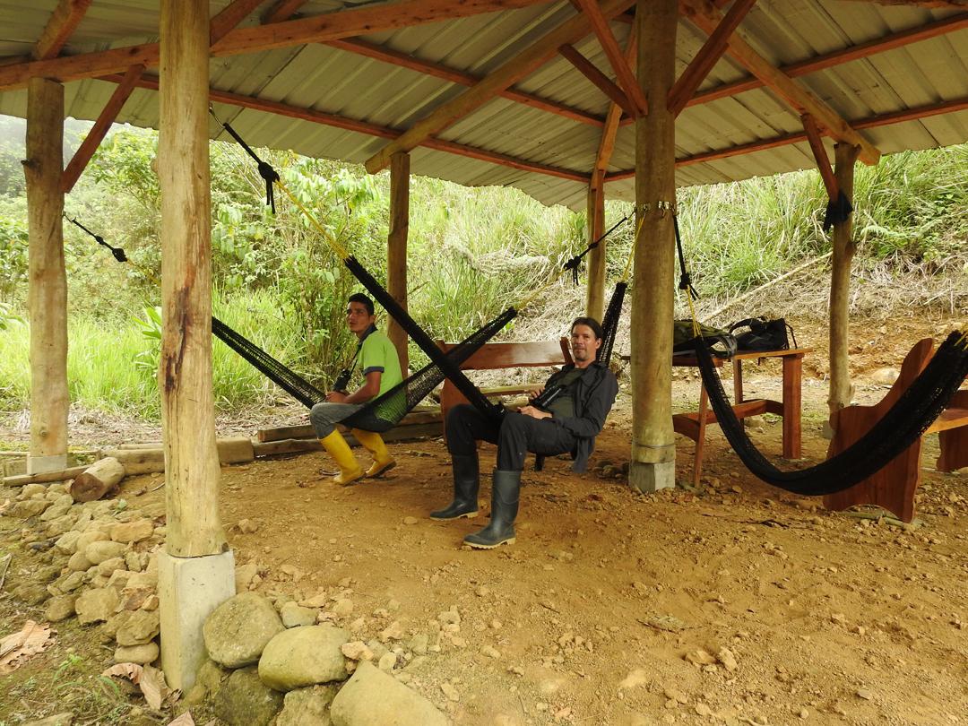Fuglekigning kan være afslappende. Jardin de Colibrís, Buenaventura, Ecuador.