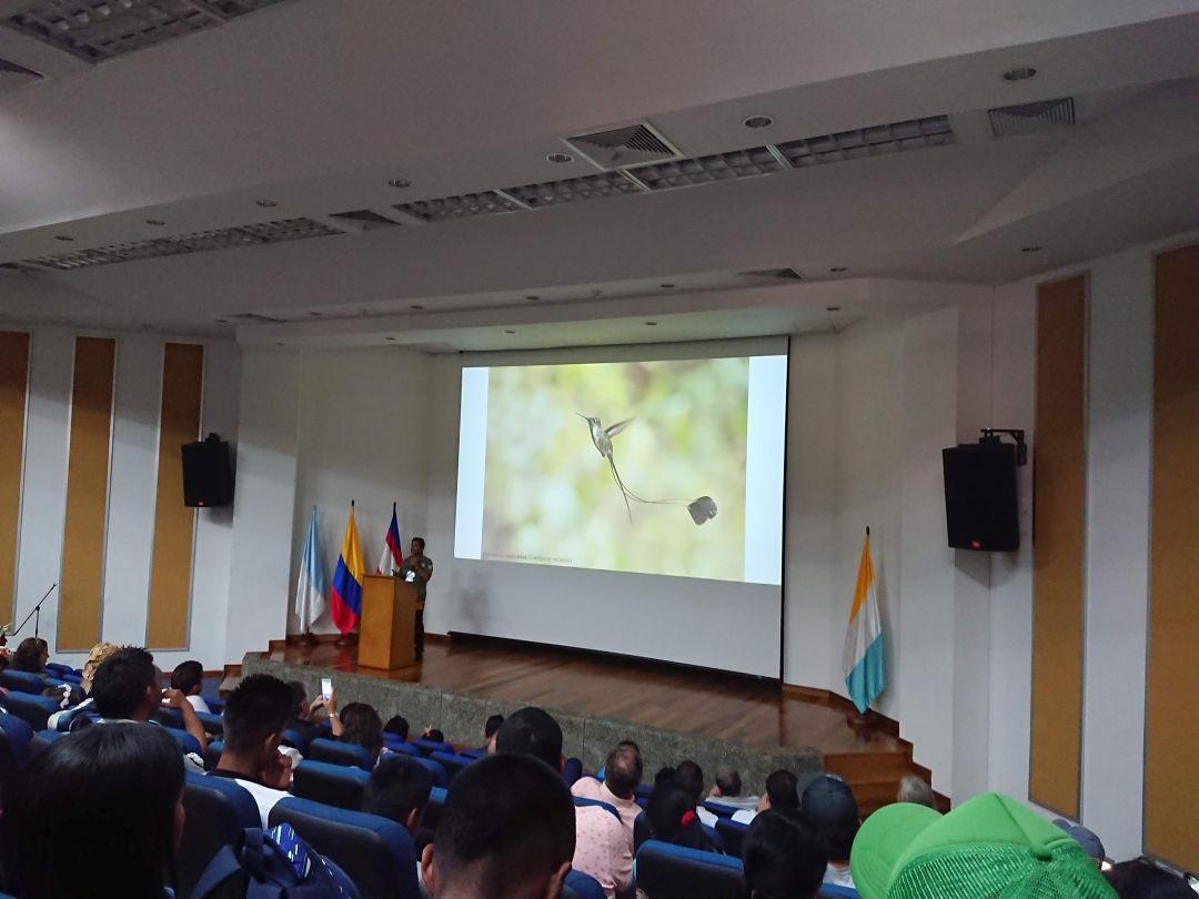 Foredrag om fugle i Peru. Colombia Birdfair 2019, Cali, Colombia.