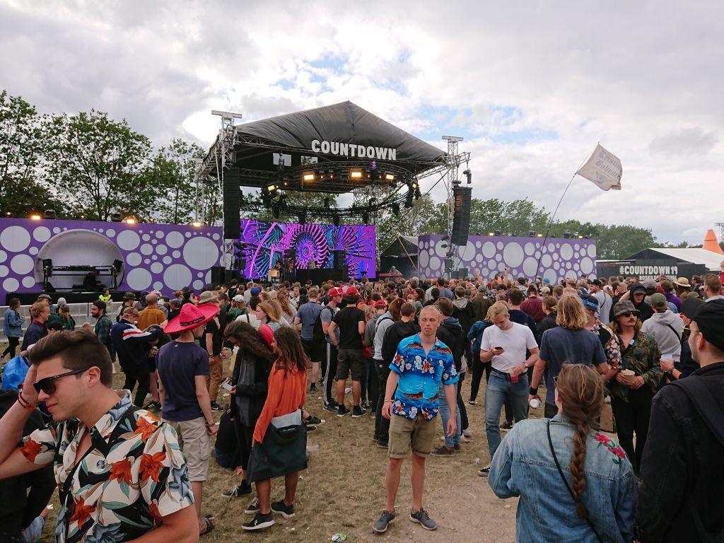 Countdown. En af scenerne i Warm up-dagene. Roskilde Festival 2019.