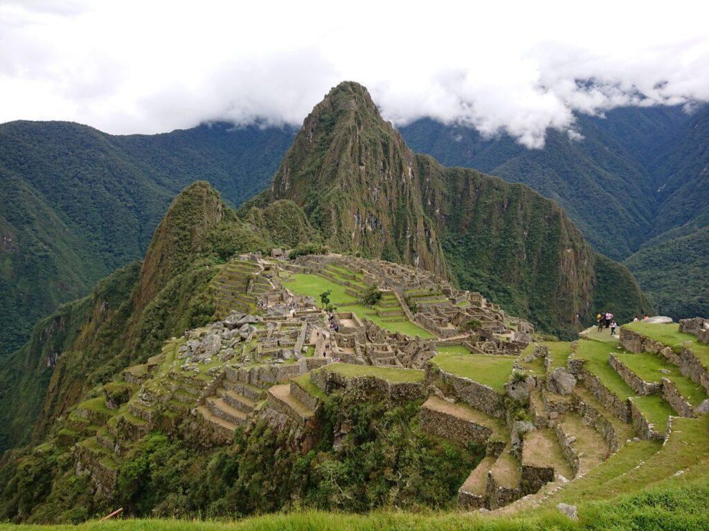 Machu Picchu is a beautiful and impressive place. The tourist route, Machu Picchu, Peru.