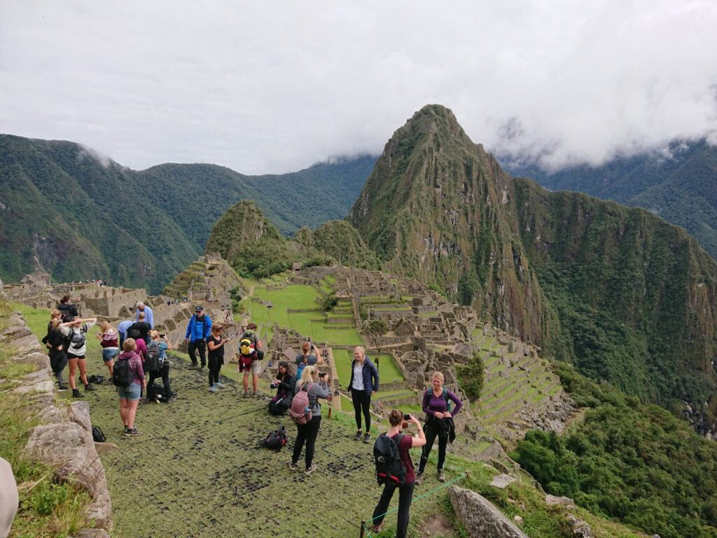 We appreciated that we saw the iconic view outside the high season. Machu Picchu, Peru.