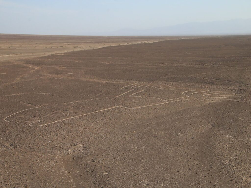 """One of the famous Nasca lines -""""hands"""". Nasca Desert, Peru."""