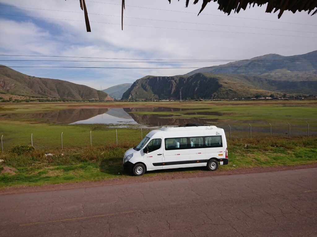 Udsigt over den vestlige del af Laguna de Huarcapay, Peru