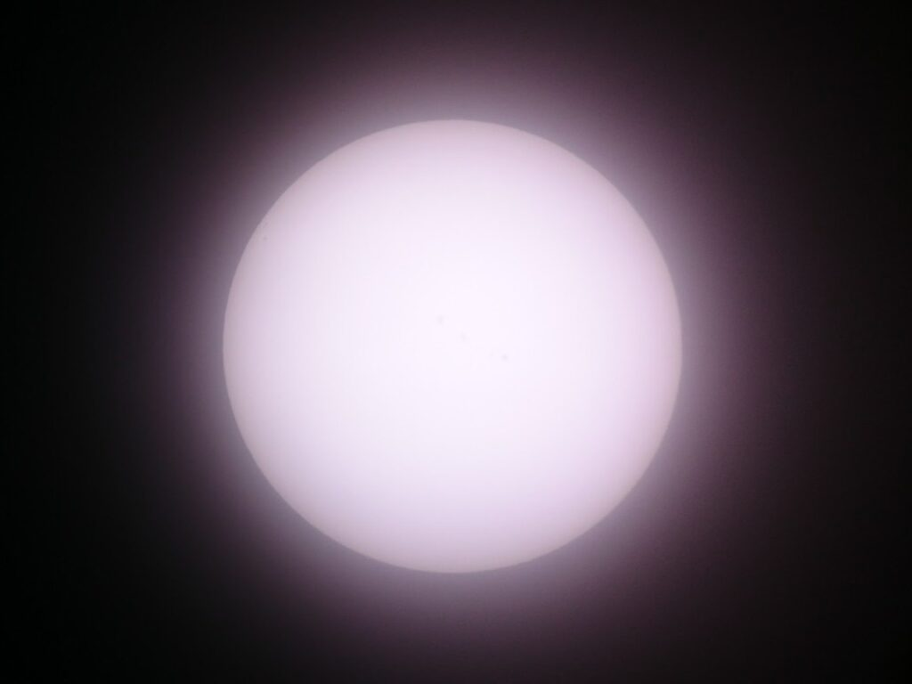 Solpletter. 21. august 2017, Madras, Oregon, USA.
