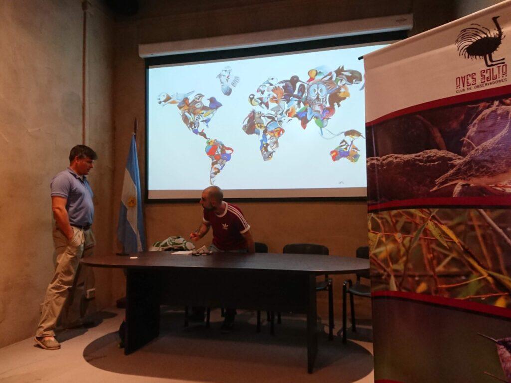 Vi deltog nogle dage inden Global Big Day i planlægnings- og strategimøde med Aves Salta Club de Observadores (Aves Salta). Museo Güemes. Salta, Argentina.